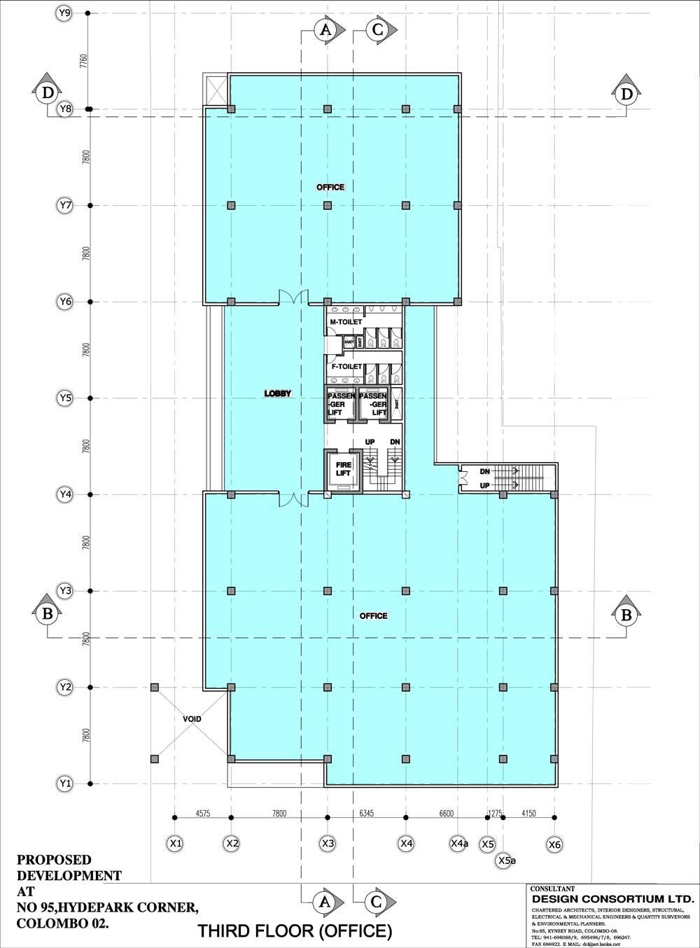 third to eleventh floor plan